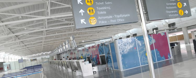 larnaca airport check in departures